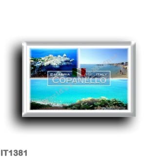 IT1381 Europe - Italy - Calabria - Copanello - Sea and Cliffs - Beach - Panorama - Ionian Sea - Catanzaro