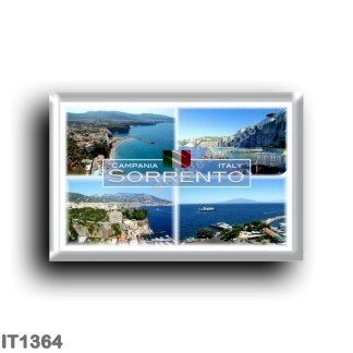 IT1364 Europe - Italy - Campania - Sorrento - Panorama - Naples - Mount Vesuvius - Marina Piccola - Aerial view