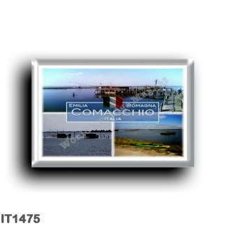 IT1475 Europe - Italy - Emilia Romagna - Comacchio - Fishing Huts - The Valleys - Sea View