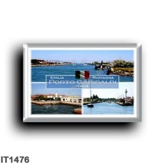 IT1476 Europe - Italy - Emilia Romagna - Porto Garibaldi - lighthouse - Port entrance