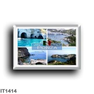 IT1414 Europe - Italy - Lazio - Ponza - Punta del Papa - Cala Fonte - Natural Arches - Cala Feola - Sea View