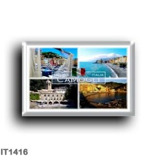 IT1416 Europe - Italy - Liguria - Camogli - San Fruttuoso Bay and Abbey - Beach - Harbor - Panorama