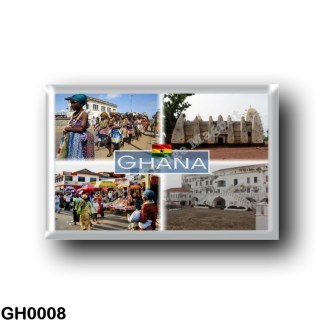 GH0008 Africa - Ghana - Larabanga - Ewe People in Ghana - Castello di Cape Coast - Mercato di Accra