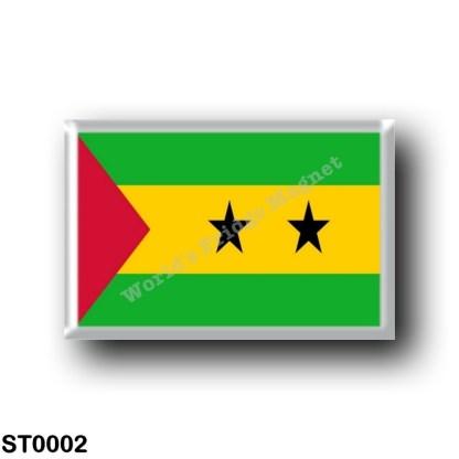 ST0002 Africa - São Tomé and Príncipe - Flag