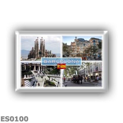 ES0100 Europe - Spain - Barcelona - Sagrada Familia - Casa Batllo - Park Guell - La Rambla