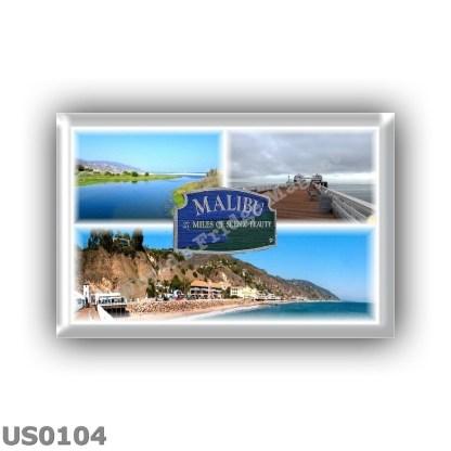 US0104 America - USA - California - Los Angeles - Malibu - Lagoon - Pier - beach panorama