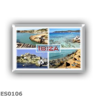 ES0106 Europe - Spain - Balearic Islands - Ibiza - Cala Tarida - Ses Salinas - Old Town - Cala D'Hort