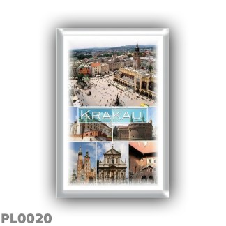 PL0020 Europe - Poland - Krakow - Main Market Square - Wawel Castle - Barbican - Ssaint Mary s Basilica - Church of SS Peter and