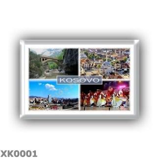 XK0001 - Europe - Kosovo - Rugova Gorge Bridge Rugova Canyon - Sinan Pasha Mosque, Prizren - Panorama of Pristina - Albanian tr