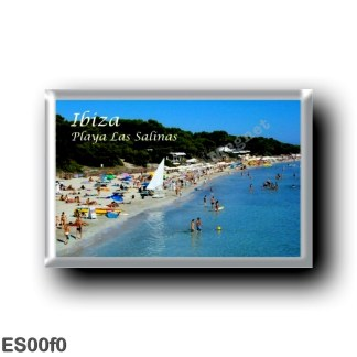 ES00f0 Europe - Spain - Balearic Islands - Ibiza - Playa Las Salinas - Beach
