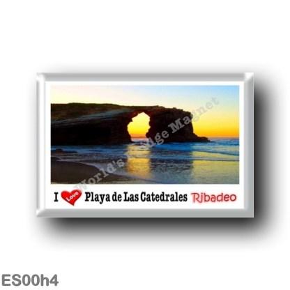 ES00h4 Europe - Spain - Spagna - Ribadeo - Playa de Las Catedrales - I Love