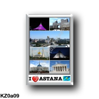 KZ0a09 Astana - Panorama City - Bayterek Tower - Palace of peace and reconciliation - Khazrat Sultan mosque - Khan Shatyr