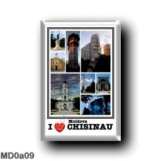 MD0a09 Europe - Moldova - Chisinau Moldova - I Love Mosaic - Stephen the Great - Ach of Trionph - City Hall