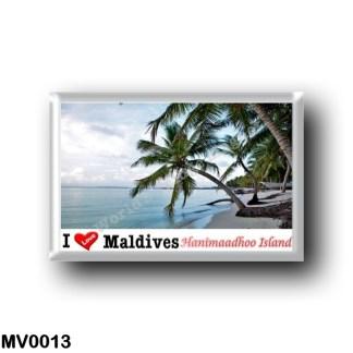MV0013 Asia - Maldives - Hanimaadhoo Island - Haa Dhaalu Atoll - I Love