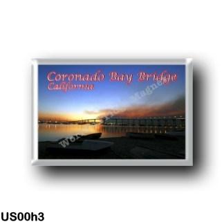 US00h3 America - United States - California - Coronado Bay Bridge by Night