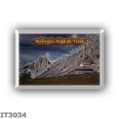 IT3034 Europe - Italy - Dolomites - Group Catinaccio - alpine hut Alpe di Tires - locality Sella di Tires - seats 70 - altitude
