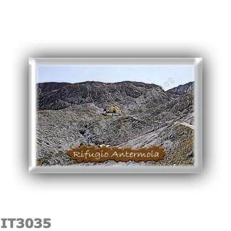 IT3035 Europe - Italy - Dolomites - Group Catinaccio - alpine hut Antermoia - locality Lago d Antermoia - seats 44 - altitude me