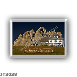 IT3039 Europe - Italy - Dolomites - Group Catinaccio - alpine hut Ciampedie - locality Ciampedie - seats 27 - altitude meters 19