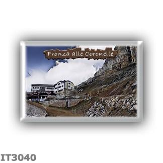 IT3040 Europe - Italy - Dolomites - Group Catinaccio - alpine hut Fronza alle Coronelle - locality Passo delle Coronelle - seats
