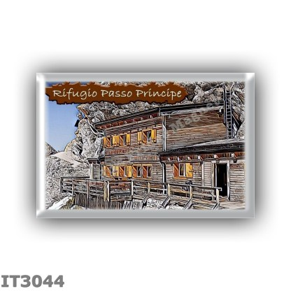 IT3044 Europe - Italy - Dolomites - Group Catinaccio - alpine hut Passo Principe - locality Passo Principe - seats 55 - altitude