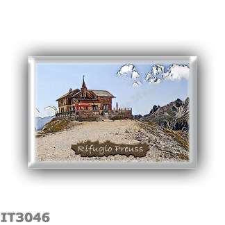 IT3046 Europe - Italy - Dolomites - Group Catinaccio - alpine hut Paul Preuss - locality Porte Neigre - seats 8 - altitude meter