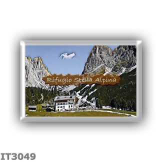 IT3049 Europe - Italy - Dolomites - Group Catinaccio - alpine hut Stella Alpina - locality Gardeccia - seats 28 - altitude meter