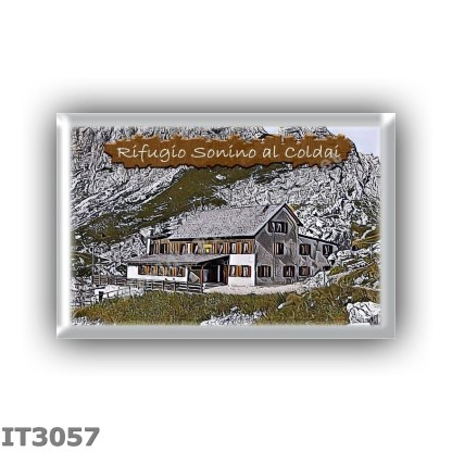 IT3057 Europe - Italy - Dolomites - Group Civetta - alpine hut Sonino al Coldai - locality Forcella Coldai - seats 88 - altitude