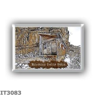 IT3083 Europe - Italy - Dolomites - Group Fanes-Braies - alpine hut Bivacco Della Pace - locality Monte Costello - seats 12 - al