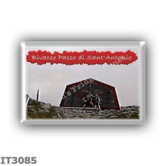 IT3085 Europe - Italy - Dolomites - Group Fanes-Braies - alpine hut Bivacco Passo Sant Antonio - locality Passo di Sant Antonio