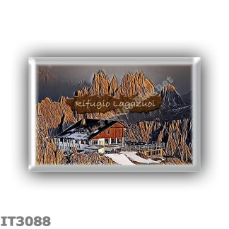 IT3088 Europe - Italy - Dolomites - Group Fanes-Braies - alpine hut Lagazuoi - locality Vetta del Lagazuoi - seats 74 - altitude