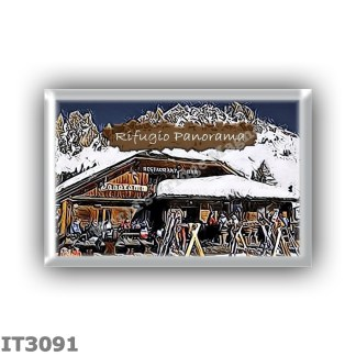 IT3091 Europe - Italy - Dolomites - Group Fanes-Braies - alpine hutte Panorama - locality Passo Furcia - seats 50 - altitude met