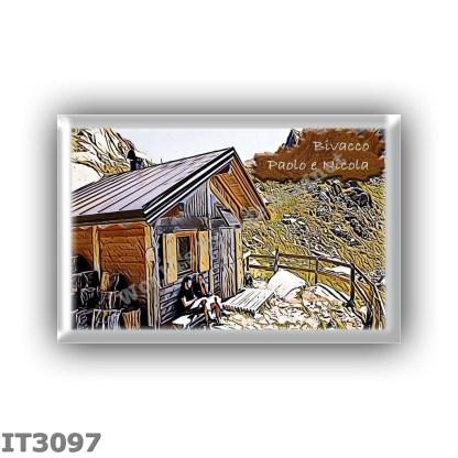 IT3097 Europe - Italy - Dolomites - Group Lagorai - alpine hut Bivacco Paolo e Nicola - locality Forcella di Valmaggiore - seats