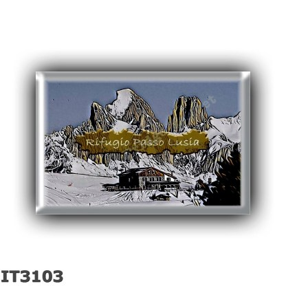 IT3103 Europe - Italy - Dolomites - Group Lagorai - alpine hut Passo Lusia - locality Alpe di Lusia - seats 20 - altitude meters