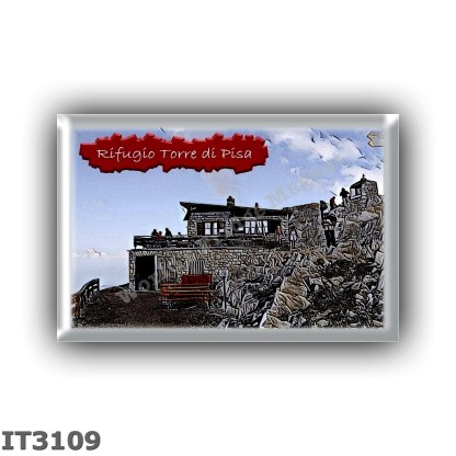 IT3109 Europe - Italy - Dolomites - Group Latemar - alpine hut Torre di Pisa - locality Cima Valbona - seats 6 - altitude meters