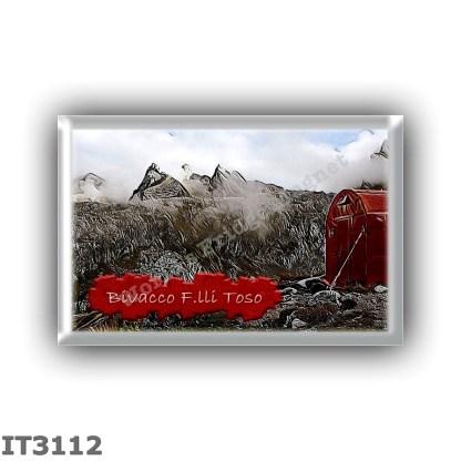 IT3112 Europe - Italy - Dolomites - Group Marmarole - alpine hut Bivacco F lli Toso - locality Col di Vallonga - seats 9 - altit
