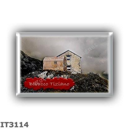 IT3114 Europe - Italy - Dolomites - Group Marmarole - alpine hut Bivacco Tiziano - locality Col di Vallonga - seats 8 - altitude