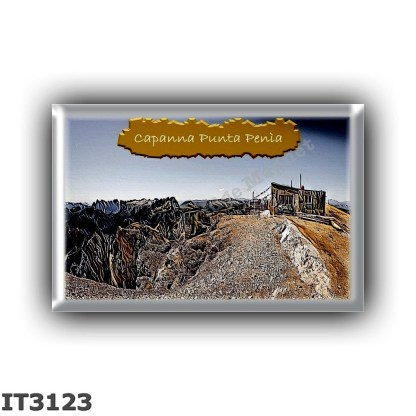 IT3123 Europe - Italy - Dolomites - Group Marmolada - alpine hut Capanna Punta Penia - locality Punta Penia - seats 6 - altitude