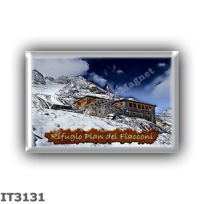 IT3131 Europe - Italy - Dolomites - Group Marmolada - alpine hut Pian dei Fiacconi - locality Pian dei Fiacconi - seats 25 - alt