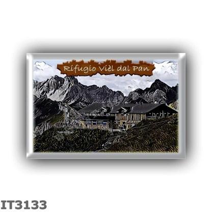 IT3133 Europe - Italy - Dolomites - Group Marmolada - alpine hut Viel dal Pan - locality Sasso Cappello - seats 14 - altitude me