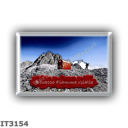 IT3154 Europe - Italy - Dolomites - Group Pale di San Martino - alpine hut Bivacco Fiamme Gialle - locality Cimon della Pala - s