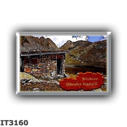 IT3160 Europe - Italy - Dolomites - Group Pale di San Martino - alpine hut Bivacco Redolfi - locality Lago di Lusia - seats 2 -