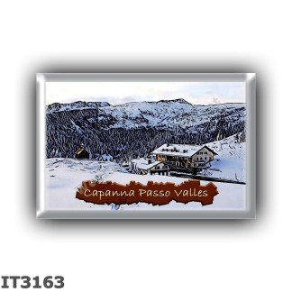 IT3163 Europe - Italy - Dolomites - Group Pale di San Martino - alpine hut Capanna Passo Valles - locality Passo Valles - seats
