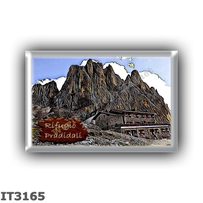 IT3165 Europe - Italy - Dolomites - Group Pale di San Martino - alpine hut Pradidali - locality Lago Pradidali - seats 64 - alti