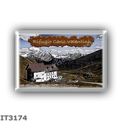 IT3174 Europe - Italy - Dolomites - Group Sassolungo - alpine hut Carlo Valentini - locality Passo Sella - seats 46 - altitude m