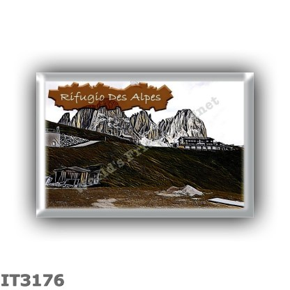 IT3176 Europe - Italy - Dolomites - Group Sassolungo - alpine hut Des Alpes - locality Col Rodella - seats 14 - altitude meters