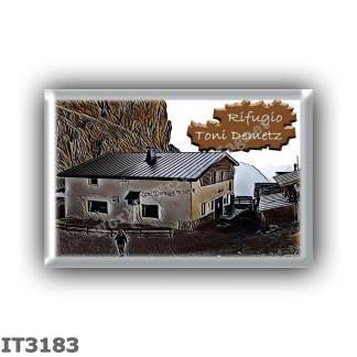 IT3183 Europe - Italy - Dolomites - Group Sassolungo - alpine hut Toni Demetz - locality Forcella del Sassolungo - seats 12 - al