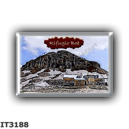IT3188 Europe - Italy - Dolomites - Group Sella - alpine hut Boe - locality Col Turond - seats 55 - altitude meters 2871