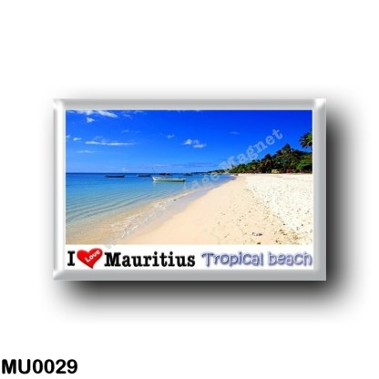 MU0029 Africa - Mauritius - Mauritius - Tropical beach - I Love