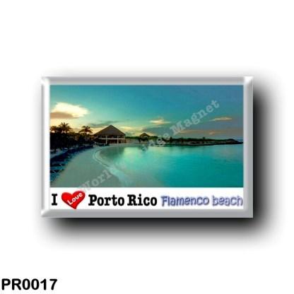 PR0017 Puerto Rico - Culebra Island - Flamenco Beach - I Love