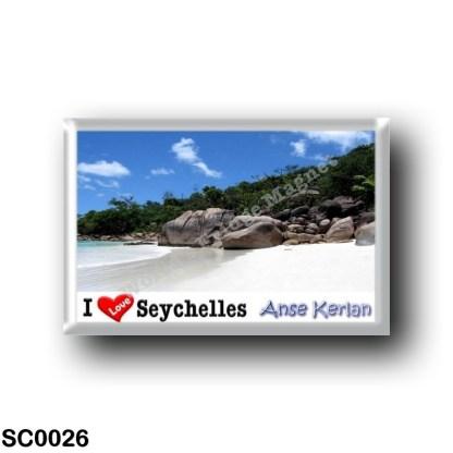 SC0026 Africa - Seychelles - Island of Praslin - Anse Kerlan - I Love